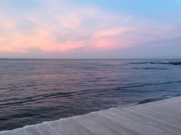サーモンピンクの夕焼け.JPG
