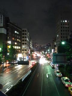 夜の白山通り