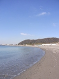相模湾の浜辺